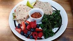 Ranch Living Quesadilla with Kale Chips and Fresh Fruit | The Biggest Loser
