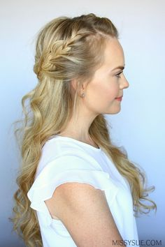 It's time to change up your look and learn a new hairstyle that is perfect for any season! Today I am partnering with Sally Beauty to share with you how you can easily create these everyday curls along with this pretty half up french braid… #EverydayHairstylesHalfUp #howtofrenchbraid