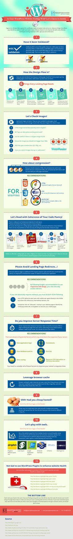 Cómo mantener WordPress con buena salud Source: www.perceptionsystem.com #infografia #infographic #socialmedia