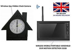 Shop Spywatch Wireless Spy Camera Hidden Table Clock Sony CDD Spy Camera LCD DVR Free delivery and returns on eligible orders. Wireless Spy Camera, Hidden Camera, Sony, Clock, Amazon, Table, Watch, Riding Habit, Amazon River