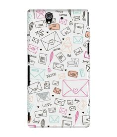 d3bf1bccc DailyObjects Case for Sony Xperia Z1-Love Letter - #mobileapps Letter Case,  Valentines