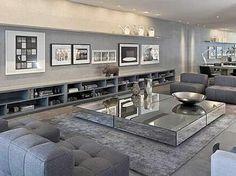 Sala de estar com simetria.