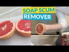 Remove Soap Scum With a Grapefruit and Kosher Salt   Hometalk