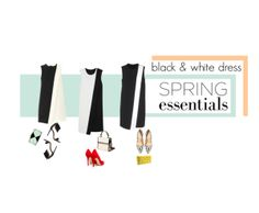 """Black and white dress"" by babyou on Polyvore"