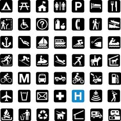 US National Park Service Icons, of course, with the universal disability access symbol