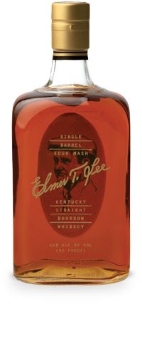 Elmer T. Lee Single Barrel Bourbon | $54.95 | Complex, smooth, and spectacular bourbon that begins with heady aromas of vanilla and honey, hints of smooth coffee, and the mouthfeel of table cream. The warm finish lingers and coats the mouth with delicious spice. A near-perfect bourbon from a true master. ★★★★★