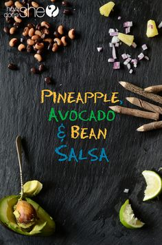 One of our absolutely favorite salsa recipes! It's great alone and on tacos! #salsa #recipe from HowDoesShe.com