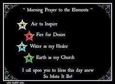 Morning Prayer to the Elements – Witches Of The Craft®