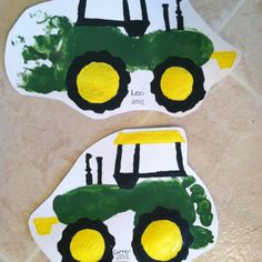 Tractor footprint art.