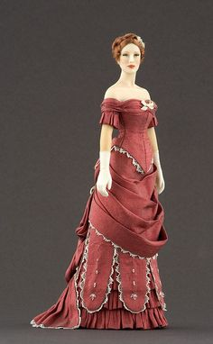 Carabosse Doll inspired in late 1870s fashion