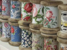cotton reels with 1950's fabric