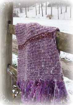 Snow Violet knitted wrap