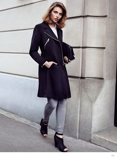Karlina Caune Models H&Ms Fall Outerwear in Trend Update