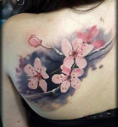 shoulder-cherry-blossom-tattoo