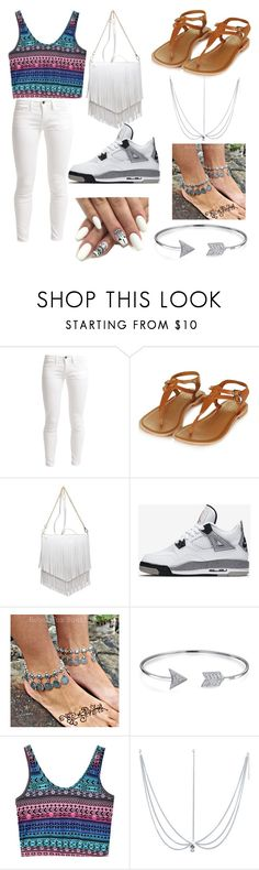 """A Day Out 🌞☀🌈💁"" by davionnadanc ❤ liked on Polyvore featuring Benetton, Topshop, Patchington, NIKE and Bling Jewelry"
