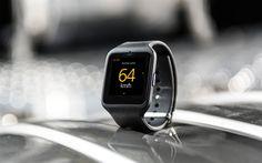 Descargar fondos de pantalla Scania Negro Griffin, smartwatches para los conductores, Scania, relojes con velocímetro, el Sony SmartWatch 3