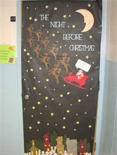Innovative Christmas classroom decorations to try out this winter Christmas Door Decorating Contest, School Door Decorations, Office Christmas Decorations, Halloween Door Decorations, Christmas Diy, Christmas Night, Cubicle Decorations, Origami Christmas, Halloween Classroom Door