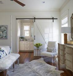 Guest Bedroom | Barn Door | Home Decor | Beach House | Coastal Interiors | Coastal | Interior Design | Designer: Susan Lovelace | Lovelace Interiors | 30A Interior Designer
