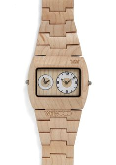 Woodgrain an Hour Watch | Mod Retro Vintage Watches | ModCloth.com
