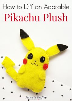 DIY Pikachu plush for kids of all ages. Pokemon felt craft for kids. Sewing craft for kids. Pokemon craft for kids. Pikachu craft for kids. DIY plush for kids. Fun Crafts For Kids, Sewing Projects For Beginners, Kids Diy, Gifts For Kids, Pikachu Pikachu, Pokemon Birthday, Pokemon Party, Pokemon Fan, Felt Kids