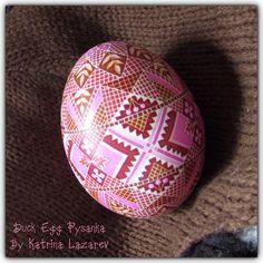 Duck Egg Pysanka By Katrina Lazarev