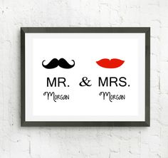 Custom Wedding Gift Engagement Gift Mr and by RizzleandRugeeToo