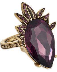 Oscar de la Renta   Swarovski-embellished Teardrop Ring - For Women    Lyst
