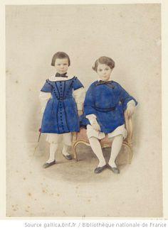 Portrait de deux enfants / Portrait of two children,, 1857-1860