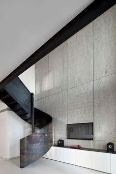 (HRS? Check.  White cabinetry? Check. Grey walls and floors? Check.  It's all there. (Nam Dger Apartment by Gerstner)