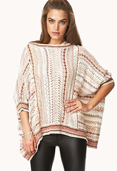 Relaxed Open-Knit Dolman Sweater   FOREVER21 - 2000064188 #ForeverHoliday