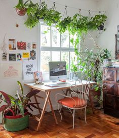 Love the adorable chair and plants!!!