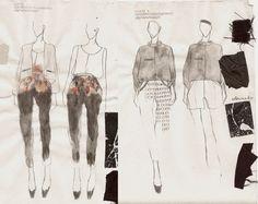 Fashion Sketchbook - fashion design drawings & fabrics; fashion illustrations; fashion portfolio // Nadine Goepfert