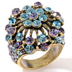 hsn Heidi Daus Heavenly Hydrangea Crystal Ring Sz 8 B056 #HeidiDaus #Cocktail