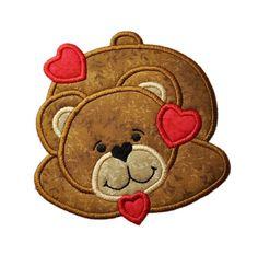 Bear Love Applique by FiveStarFonts on Etsy, $4.99