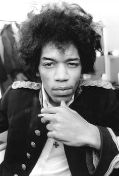 """Jimi Hendrix He seems to be seeing right through that """"Purple Haze, That's all around... I don't know, If I'm going, Up or down!"""""""