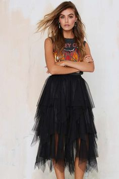 Just Like Heaven Mesh Tutu Skirt   Shop Clothes at Nasty Gal!