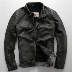 avirex fly pattern genuine leather jacket men harley style black cowskin motorcycle jacket slim biker jacket leather coats male