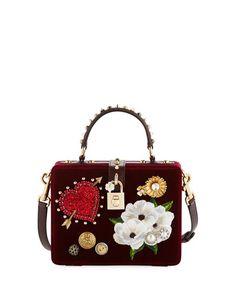 V3K14 Dolce   Gabbana Dolce Heart   Flower Shoulder Bag 7c76d30b52753
