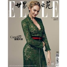 Candice Swanepoel Gets Witty In Elle China May 2016 Images By Rex Xu... ❤ liked on Polyvore featuring magazine