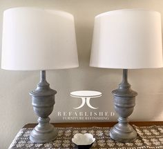 Beautiful I Painted A Pair Of Old Brass Lamps With Annie Sloan Chalk Paint In French  Linen