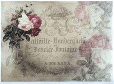 Rice Decoupage Paper / Decoupage Sheets  / Scrapbooking / ARENAIX ROSE / Vintage