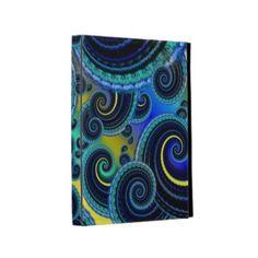 Funky #Turquoise and #Yellow Swirl Pattern #Ipad Folio Case $51.70