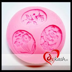 ( 3 #Flower #Pendant #Silicone #Molds ) Size: 7.5 cm. For price, order or info: http://www.dilkash.pk/shop/3-flower-pendant-silicone-molds/