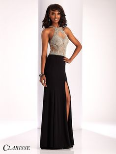 You can be fun, flirty, and fabulous in this gorgeous black dress with a high neckline! Check it out at Rsvp Prom and pageant, your source of the HOTTEST Prom and Pageant Dresses!