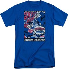 Superman/Meltdown Short Sleeve Adult T-Shirt Tall in Royal