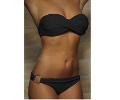Plavky dámské dvoudílné bez ramínek černé – dámské plavky + POŠTOVNÉ ZDARMA  Na tento produkt se d0f085d7a0