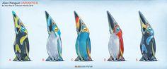 ArtStation - Subnautica: Below Zero - Alien Penguin, Alex Ries Subnautica Creatures, Fantasy Creatures, Mythical Creatures, Subnautica Concept Art, Alien Concept Art, Alien Design, Robot Design, Fantasy World, Fantasy Art