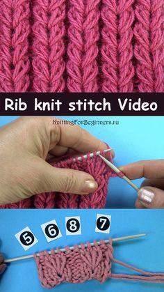 Rib stitch knit pattern Free knitting video Elastic band with braids knitting pattern 59 Rib Stitch Knitting, Shrug Knitting Pattern, Knitting Stiches, Easy Knitting Patterns, Knitting Kits, Circular Knitting Needles, Knitting Videos, Knitting For Beginners, Loom Knitting