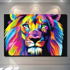Lion Painting, Oil Painting Abstract, Abstract Canvas, Canvas Wall Art, Abstract Print, Canvas Poster, Canvas Paintings, Spray Painting, Canvas Frame