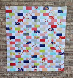 Moda Bake Shop: Interwoven Quilt by Amanda Castor of Material Girl Quilts. Using Miss Kate fabric by Bonnie and Camille. @modafabrics